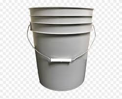 5 Gallon Round Plastic Bucket Grey Fence Clipart 447480 Pikpng