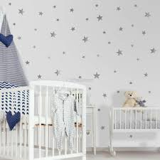 Metallic Silver Little Stars Wall Decal Sticker Wall Decals Wallmur