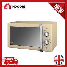 800w retro manual dial microwave 20l