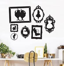 Alice In Wonderland Wall Decal Frames Wall Decal Alice Wall Etsy