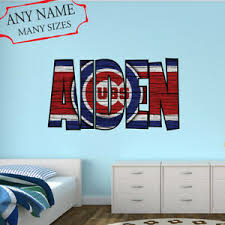 Chicago Cubs Wall Decal Art Custom Name Sticker Baseball Kids Room Mural Nl59 Ebay