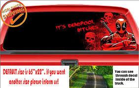 W765 Deadpool Superhero X Men Wilson Perforated Car Decal Rear Window Sticker Ebay