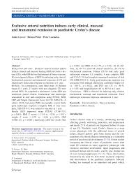pdf exclusive enteral nutrition