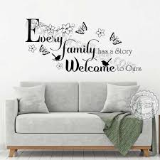 Every Family Has A Story Inspirational Family Wall Sticker Quote Living Room Dining Room Home Vinyl Mural Decor Decal