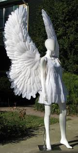 upraised angel costume wings have wire