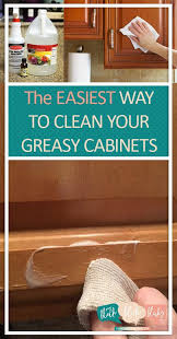 clean your greasy cabinets