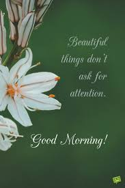 good morning quote about the true nature of beauty on pic flowers