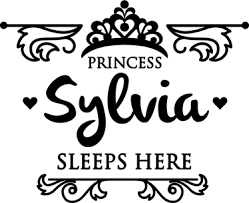 Kids Princess Sleeps Here Wall Sticker Tenstickers