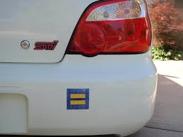 So Does Anyone Wear An Equality Sticker On Their Car I Do And It Has Gotten Me Some Stoplight Attention Gaycarfans