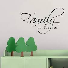 Vova Self Adhesive Family Is Forever Wall Sticker Removable Decal Mural Home Decor
