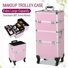 yaheetech aluminum rolling makeup case