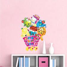 Girls Shopkin Bedroom Wall Decals Girl Wall Decal Murals Shopkin Wall Decal Shopkin Stickers Shopkins Wall Designs Girls Wall Decals Wall Decals For Bedroom Wall Decals
