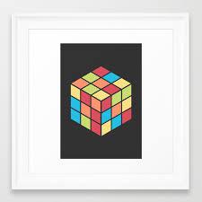 68 rubix cube framed art print by