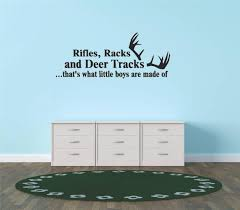 Custom Wall Decal S Stickers Rifles Racks And Deer Tracks That S What Little Boys Are Made Of Hunting Hunter Sports Quote Sign 10x20 Walmart Com Walmart Com
