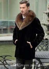 rabbit fur coat mens leather