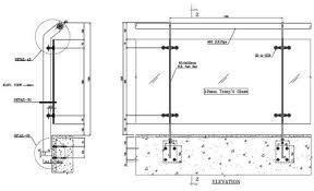 frameless glass railing detail google