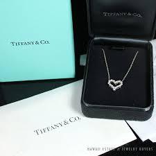 tiffany co diamond heart necklace