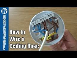 how to wire a ceiling rose lighting