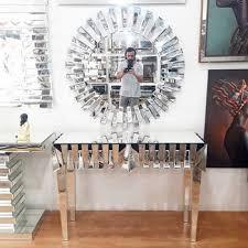 luxury hotel mirrored furniture vanity