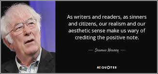 seamus heaney quote as writers and readers as sinners and