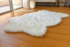 4x6 Plush Polar Bear White Faux Fur Area Rug Modern Nursery Room Throw Fur Rugs For Sale Online