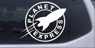Planet Express Logo Car Or Truck Window Decal Sticker Rad Dezigns
