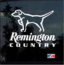 Remington Country Hunting Dog Pointer Hunting Window Decal Sticker Custom Sticker Shop