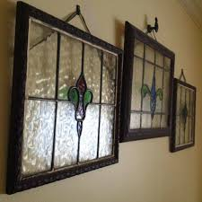 framed stained glass wall decorations