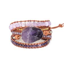 leather wrap bracelet charm