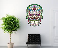 Sugar Skull Vinyl Wall Decal Sugarskulluscolor005 Contemporary Wall Decals By Vinyl Disorder Inc