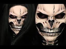vire skull halloween makeup tutorial