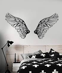 Vinyl Decal Christian Angel Wings Religion Christianity Religious Living Room Bedroom Home Decor Wall Sticker 2cb8 Aliexpress Com Imall Com