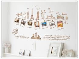 Removable Global Travel Wall Art Decal Stickers Photo Frame Wall Sticker Mural Sweet Memory Wall Murals Worldwide Famous Building Home Decor Shop Wall Decals Space Wall Decals From Raysen007 4 93 Dhgate Com