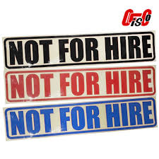 Not For Hire Reflectorized Stickers With Border Set Of 2 Shopee Philippines