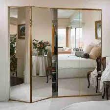 contemporary mirrored closet door