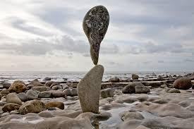 Adrian Gray | Stone balancing, Grey stone, Stone sculpture