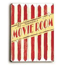 Personalized Family Movie Room Wood Sign Etriggerz Com