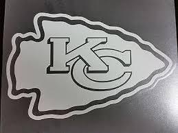 Kansas City Chiefs White Window Die Cut Decal Wincraft Sticker 8x8 Nfl Sports City Hats