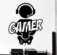 Gaming Gamer Joystick Video Computer Game Vinyl Decal Stickers Wallpaper For Boys Bedroom Decoration Vinyl Wall Decals Vinyl Wall Decals Kids From Onlybrand 5 46 Dhgate Com