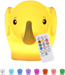 Amazon Com Baby Night Light For Kids Room Led Kids Night Light Baby Lamp For Nursery Baby Elephant Lamp Remote 9 Multicolor Changing Led Elephant Lights Miffy Lamp For