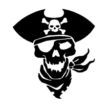 Pirate Skull Vinyl Decal Sticker For Car Truck Window Tablet Ship Eye Patch Raider Skull Decal Pirates Pirate Skull