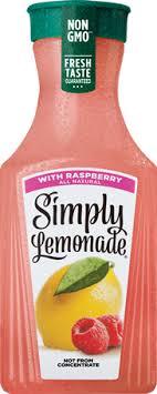raspberry lemonade simply beverages