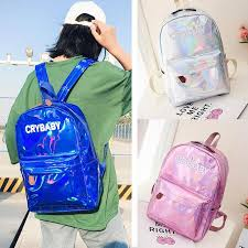 backpack women fashion laser leather