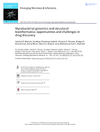 Mycobacterial genomics and structural bioinformatics: opportunities and  challenges in drug discovery