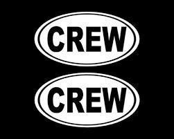Oval Crew Decal Crew Sticker Team Rowing Sticker Car Decal Decal Laptop Sticker Oval Sticker Bumper Vinyl Deca Car Decals Custom Decals Custom Stickers