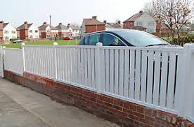 Picket Pvc Plastic Fence Panels Reinforced With Metal Profile Garden Fencing Ebay