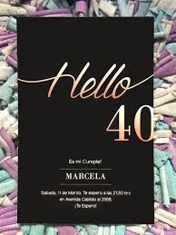 20 Invitacion Para Cumpleanos De 40 Anos Traje 480 00 En