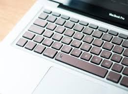Laptop Keyboard Decal Metallic Rose Gold Ombre Keyshorts