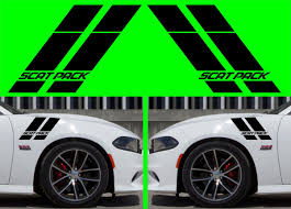 Product 2x Dodge Charger Scat Pack Hash Stripes 2015 2018 Vinyl Decal Hellcat Srt Rt Sxt Scatpack
