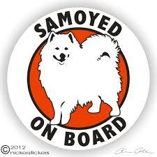 Samoyed Dog Stickers Decal Nickerstickers